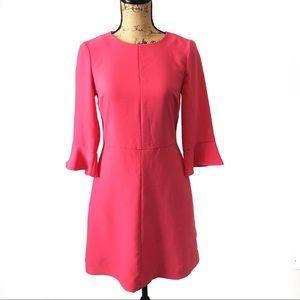 Banana Republic Dress Flutter Sleeve Pink Size 0